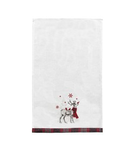 C&F Home Frosty Deer Kitchen Towel
