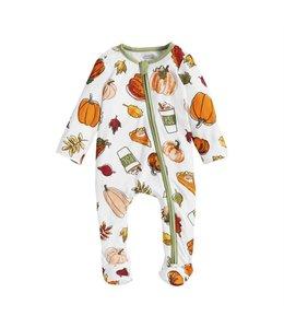 MudPie Pumpkin Spice Sleeper 3-6M