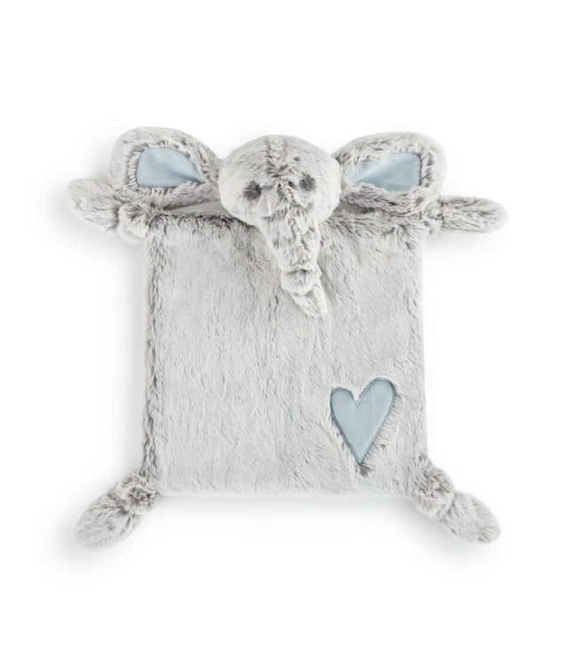 Demdaco Luxurious Baby Blue Elephant Blankie