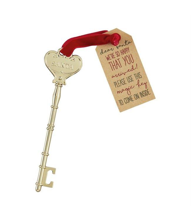 MudPie Brass Santa Key