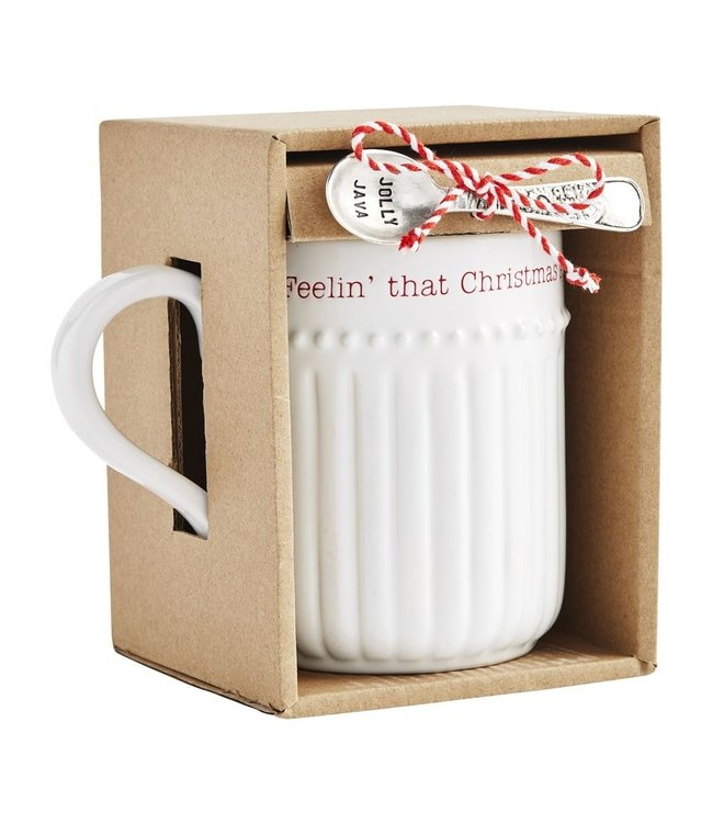 MudPie Christmas Spirit Mug Boxed Set