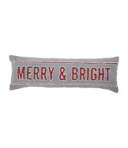 MudPie Merry Bright Canvas Pillow