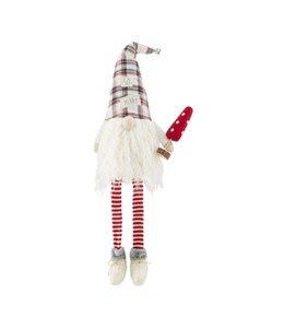 MudPie Merry Deluxe Dangle Leg Gnome