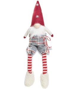 MudPie Red Felt Xmas Dangle Leg Gnome