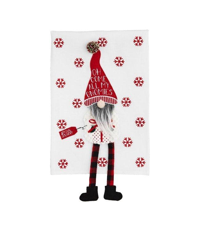 MudPie Gnomies Dangle Gnome Towel