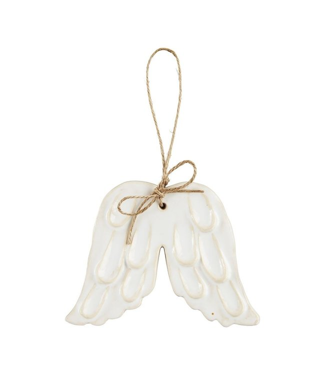 MudPie Holy Wings Ornament