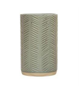 Bloomingville Debossed Stoneware Crock, Reactive Glaze, Grey (Each Varies)