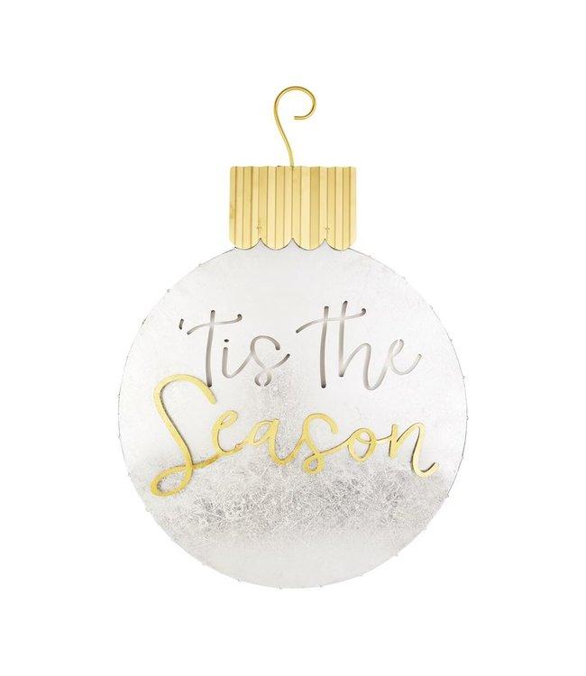 MudPie Gold Ornament Door Hangers - Tis the Season