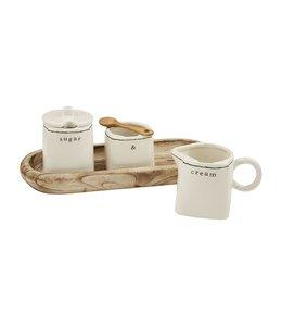 MudPie Cream and Sugar Set