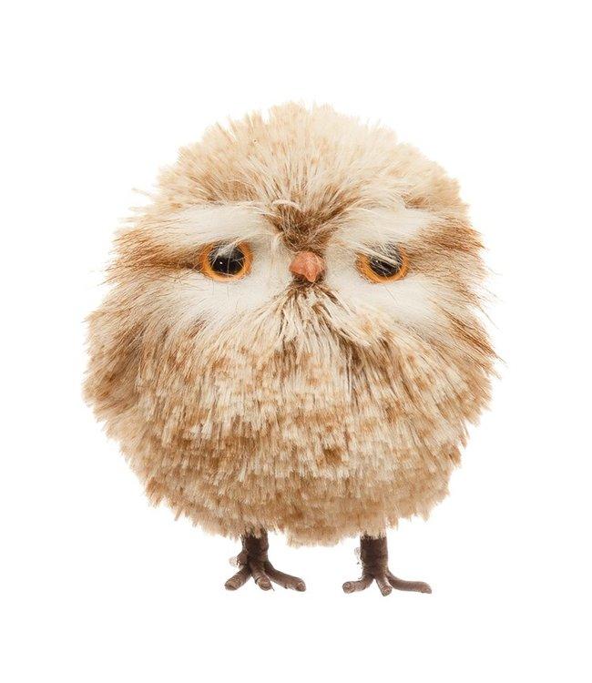 Creative Co-Op Faux Fur Owl