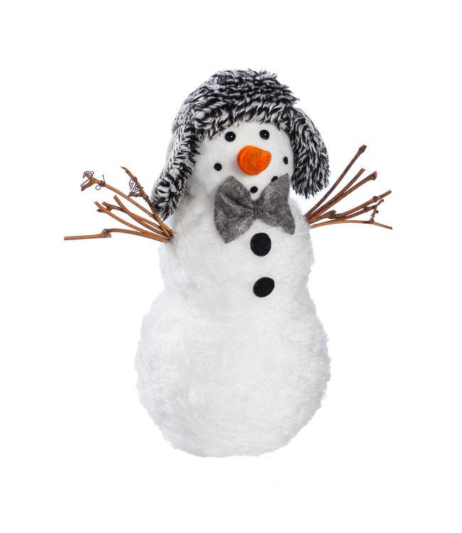 Evergreen Light Up Fabric Snowman with Earmuff Hat