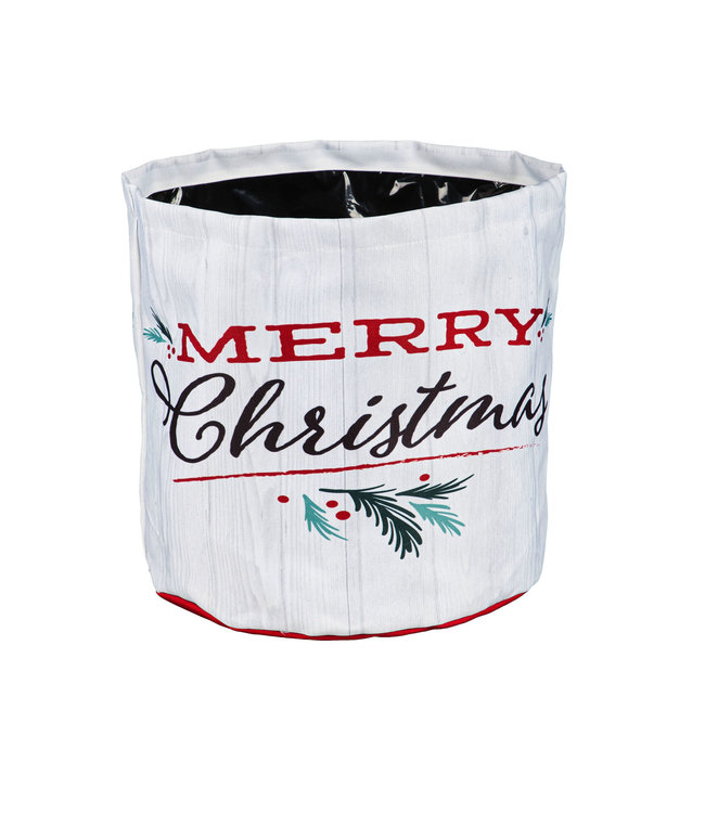 Evergreen Holiday Traditions Round Fabric Planter-Large