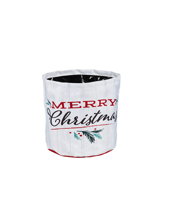 Evergreen Holiday Traditions Round Fabric Planter-Small