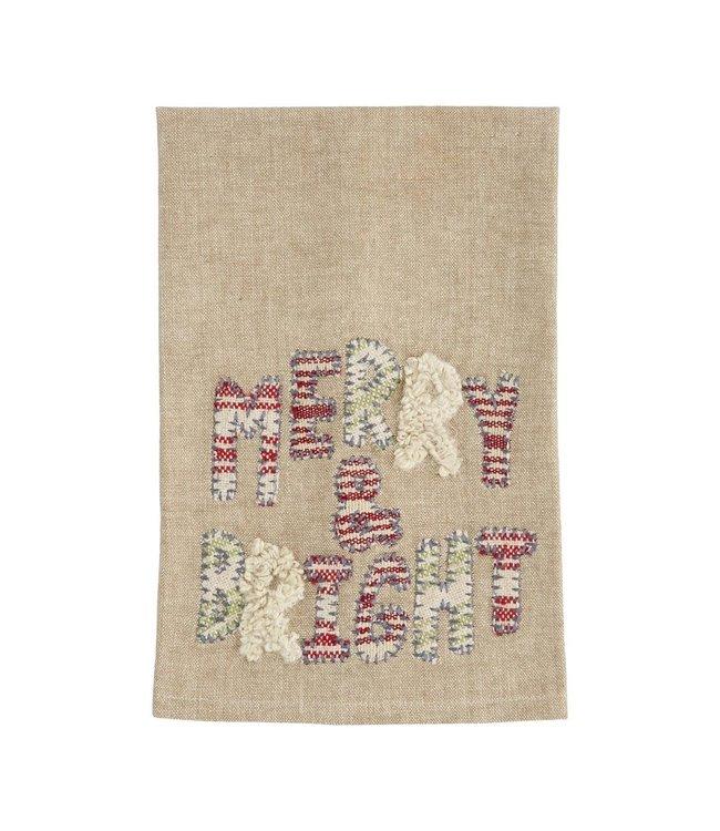 MudPie Merry & Bright Applique Towel
