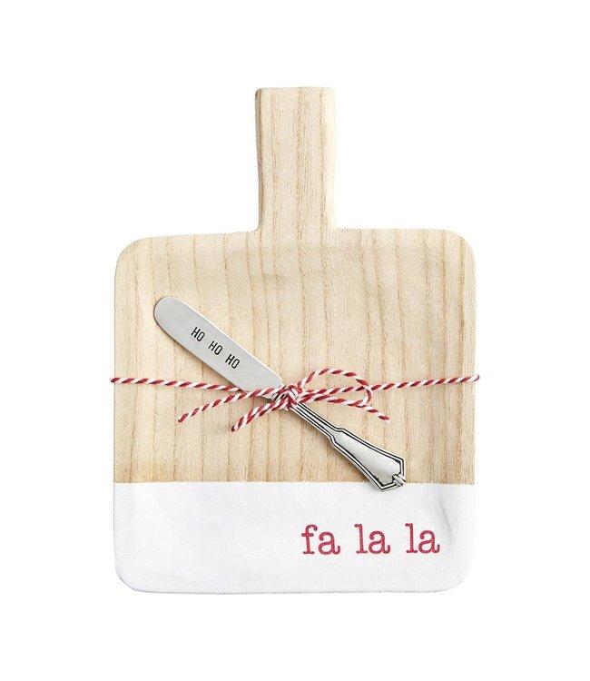 MudPie Fa La La Christmas Mini Board with Spreader