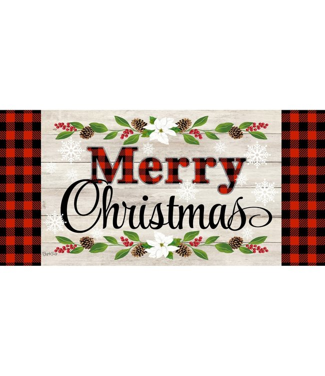 Evergreen Christmas Sentiments Sassafras Switch Mat
