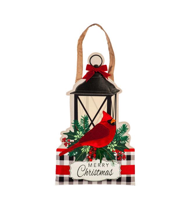 Evergreen Merry Christmas Cardinal Door Décor