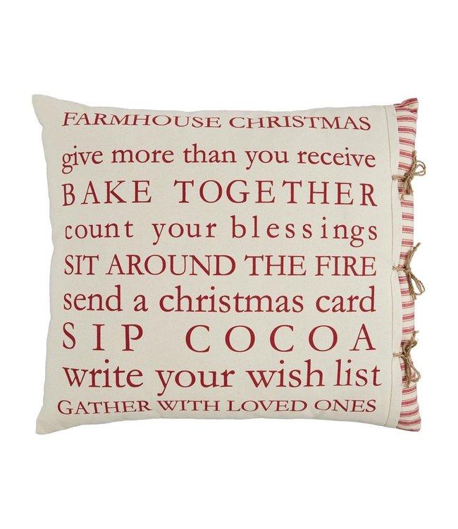 MudPie Farm Christmas Definition Pillow