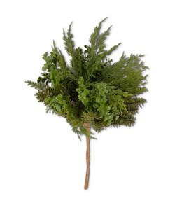 K&K Interiors 20 Inch Real Touch Boxwood and Mixed Pine Bush