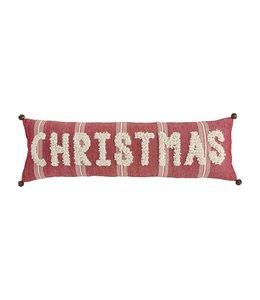 MudPie Christmas Loop Lumbar Pillow