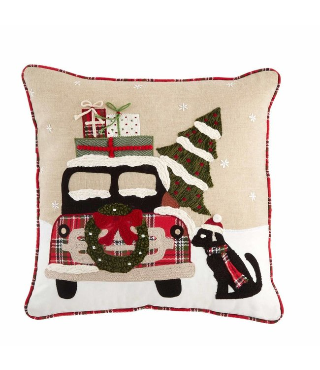 MudPie Christmas Dog Pillow