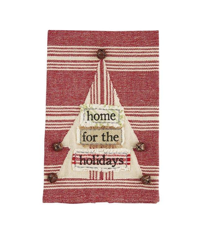 MudPie Christmas Tree Applique Towel
