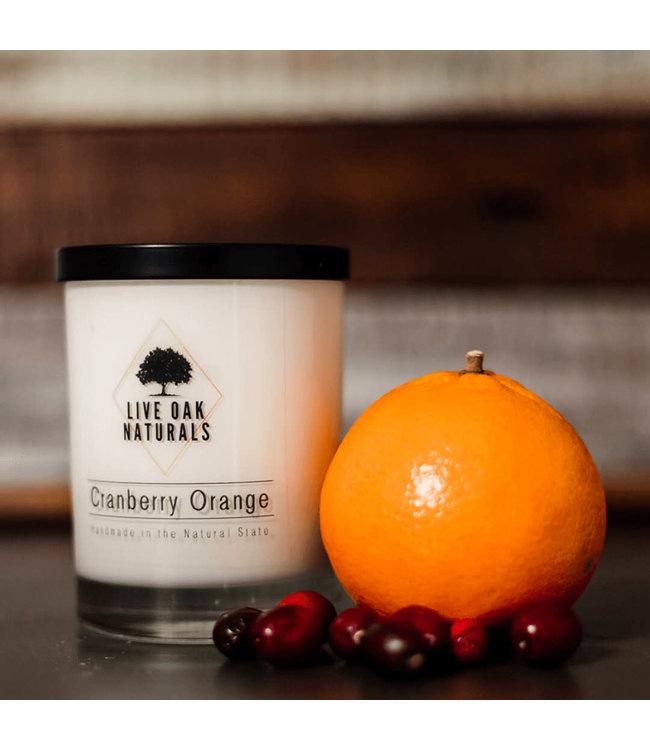 Live Oak Naturals Cranberry Orange Soy Wax Candle