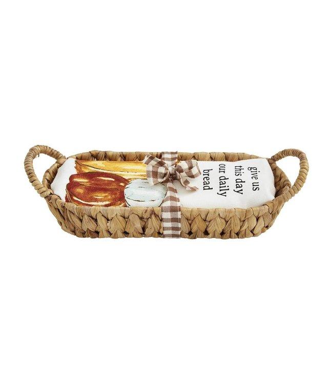 MudPie Bread Basket & Towel Set