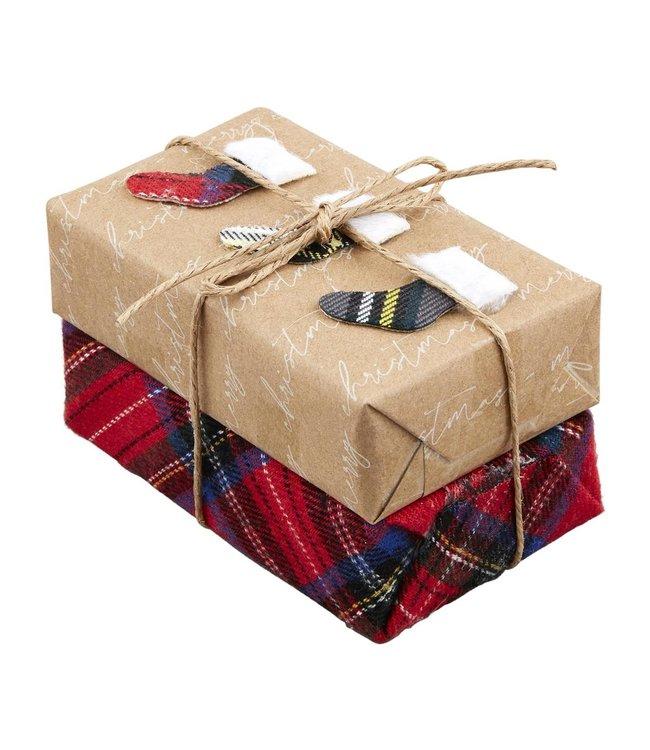 MudPie Christmas Bar Soap with Tiny Stockings