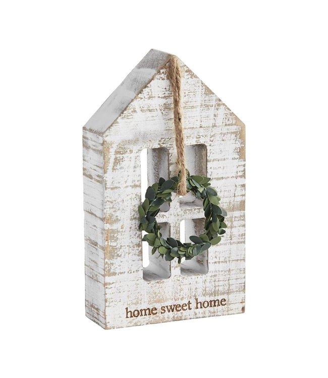 MudPie Home Sweet Home Wreath Plaque
