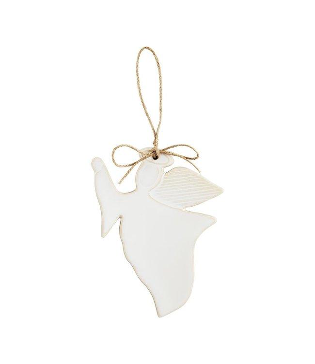 MudPie Angel Glazed Ornament