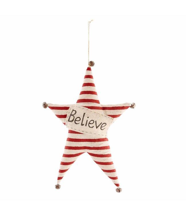 MudPie Believe Star Fabric Hanger