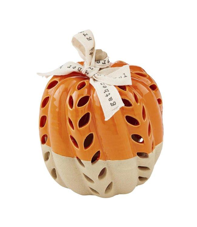 MudPie Medium Stoneware Pumpkin Lantern