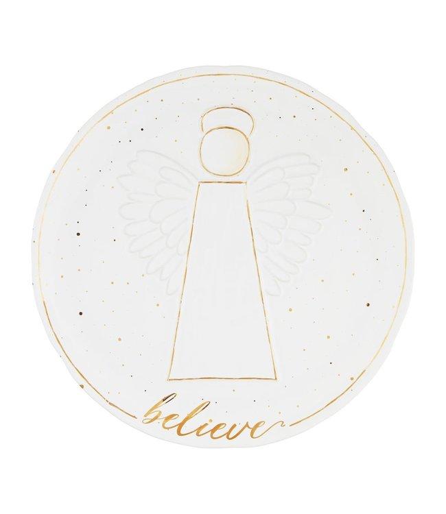 MudPie Gold Angel Platter
