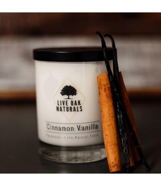 Live Oak Naturals Cinnamon Vanilla Soy Wax Candle