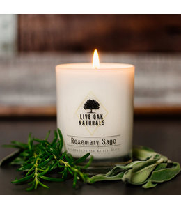 Live Oak Naturals Rosemary Sage Soy Wax Candle
