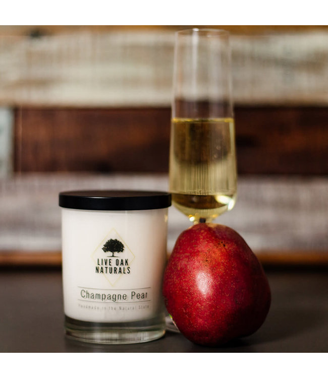 Live Oak Naturals Champagne Pear Soy Wax Candle