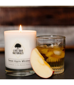 Live Oak Naturals Sweet Apple Whiskey Soy Wax Candle