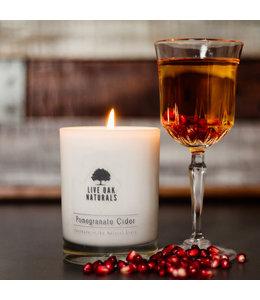 Live Oak Naturals Pomegranate Cider Soy Wax Candle