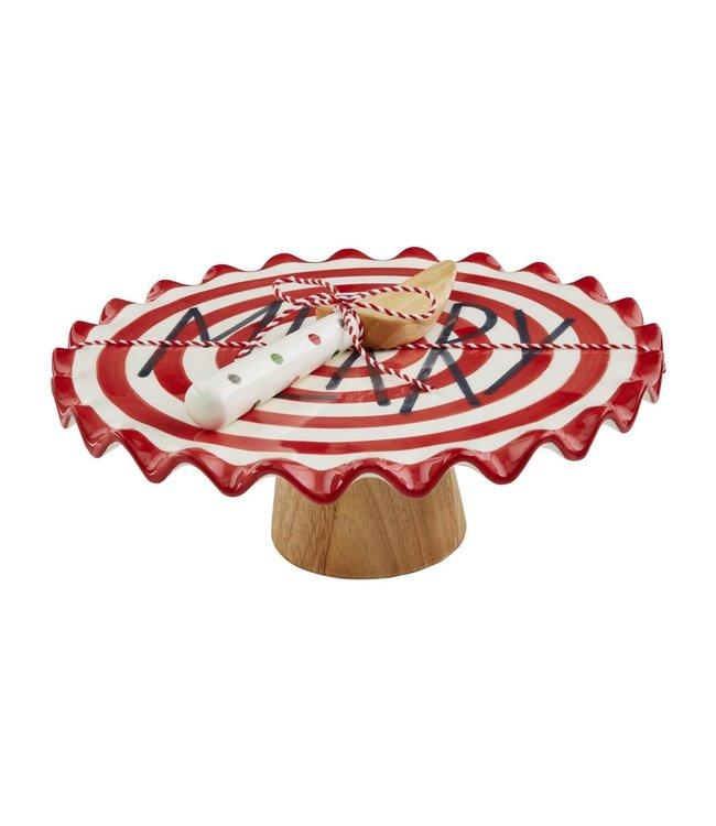 MudPie Merry Cake Pedestal Set