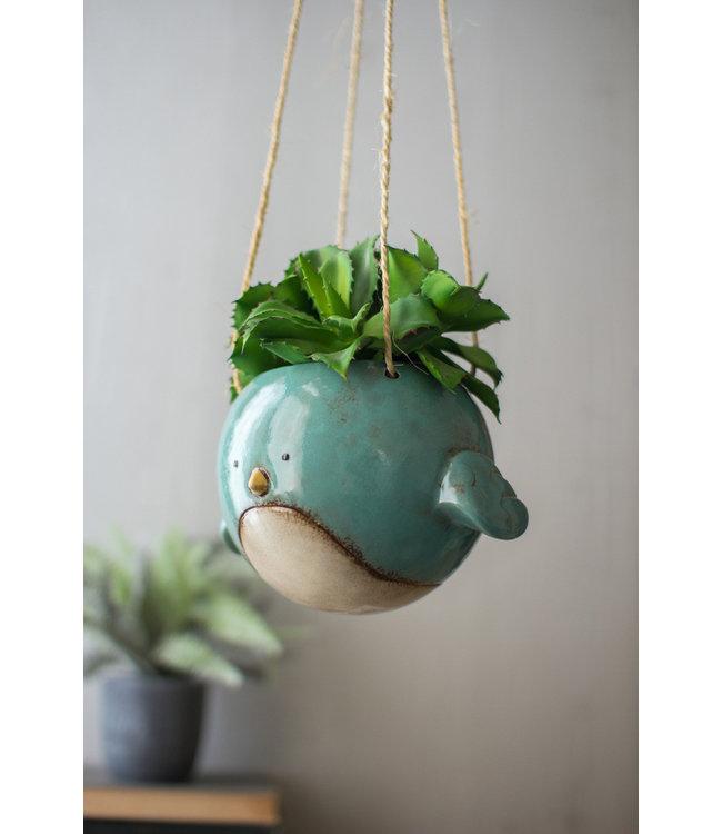 Kalalou Ceramic Hanging Bird Planter