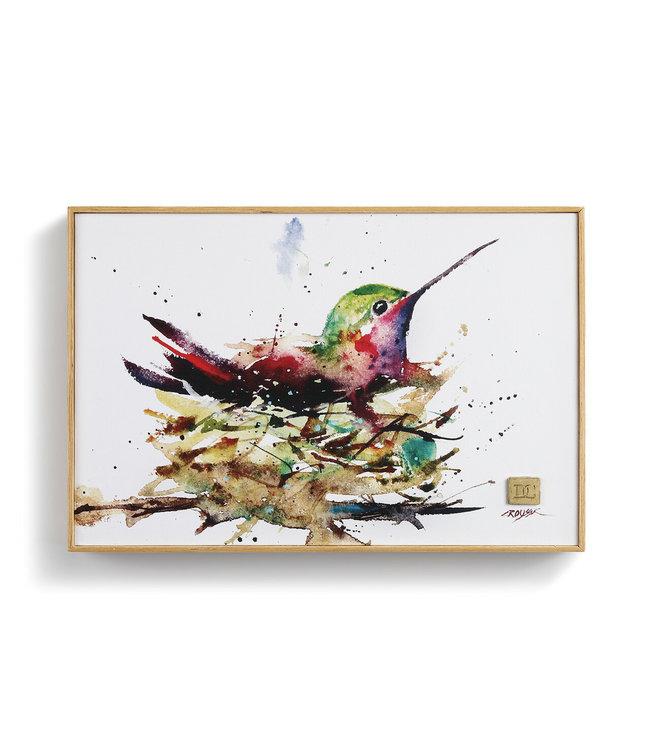 Demdaco Hummingbird in Nest Wall Art