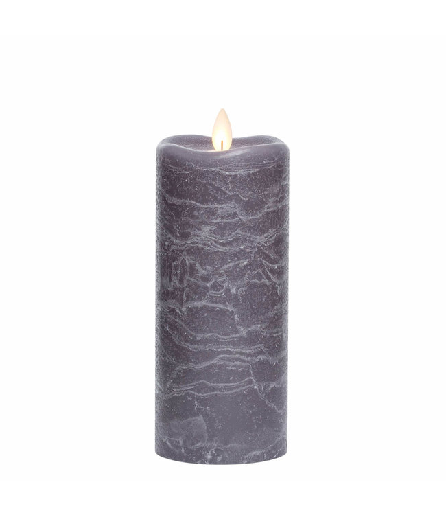 Sullivans Gift Frosted Candle Pillar- Gray