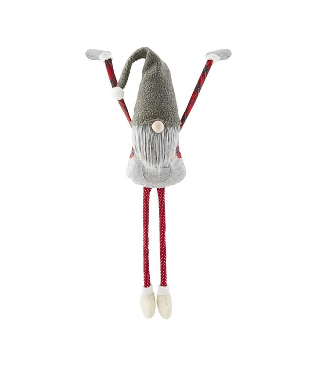MudPie Grey XL Dangle Arm Gnome