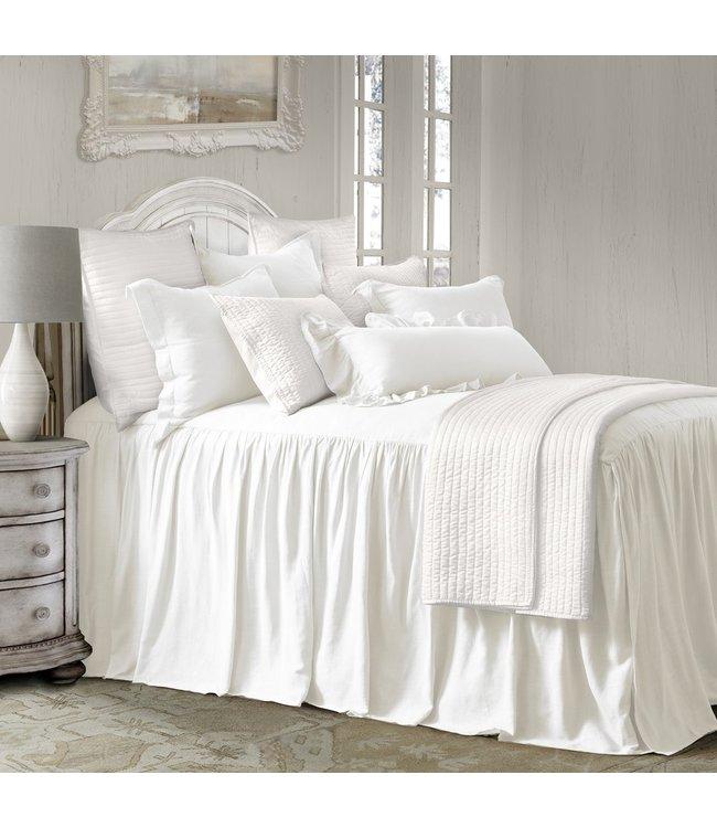 Hiend Accents Luna Bedspread Set, White, Superking