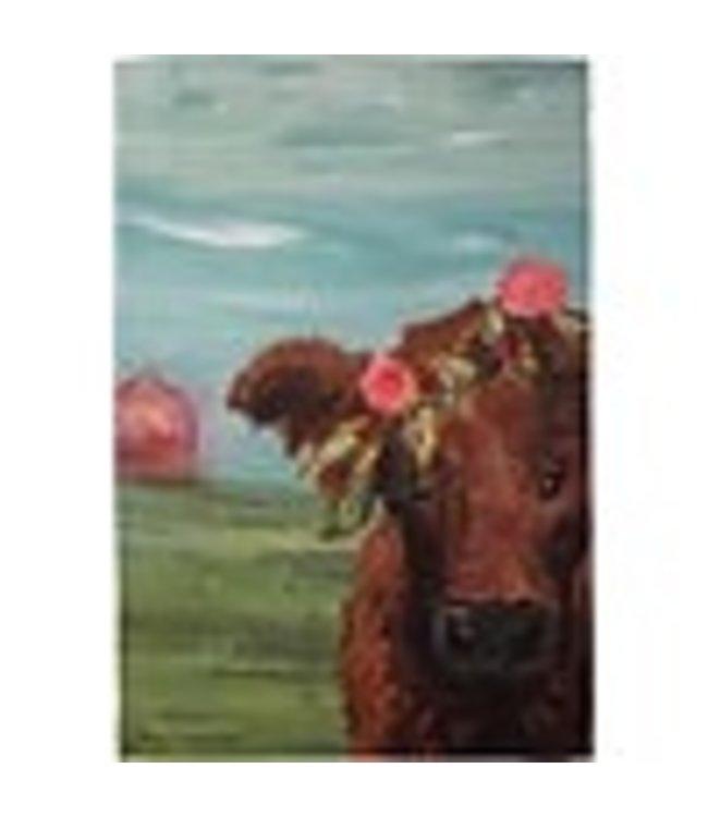 Primitives By Kathy Cow Garden Flag