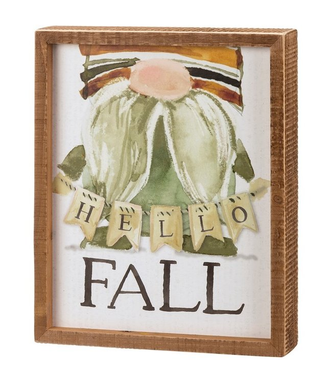 Primitives By Kathy Inset Box Sign - Hello Fall