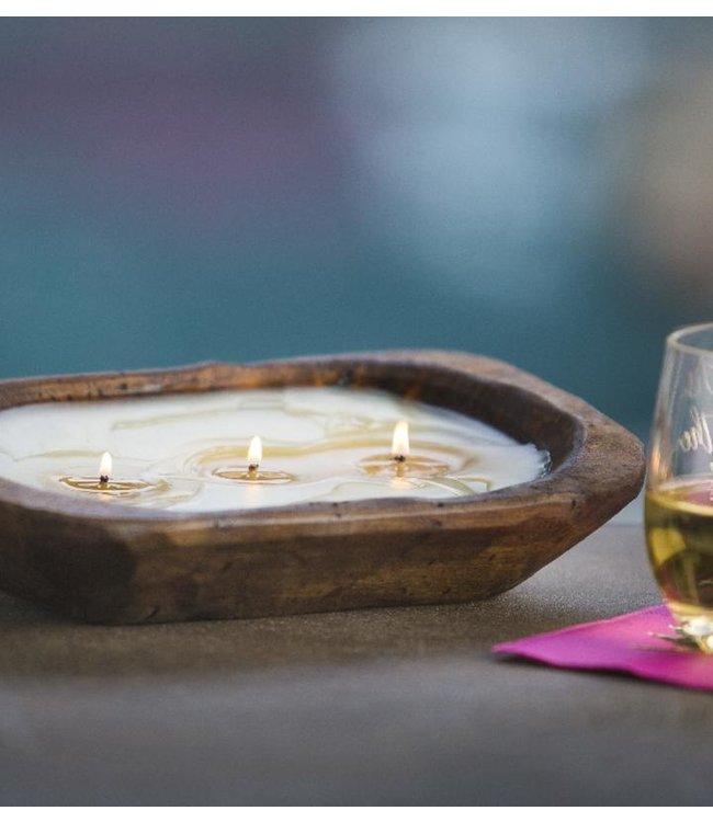 Lux Fragrances 3 Wick Dough Bowl Candle- Blue Hydrangea