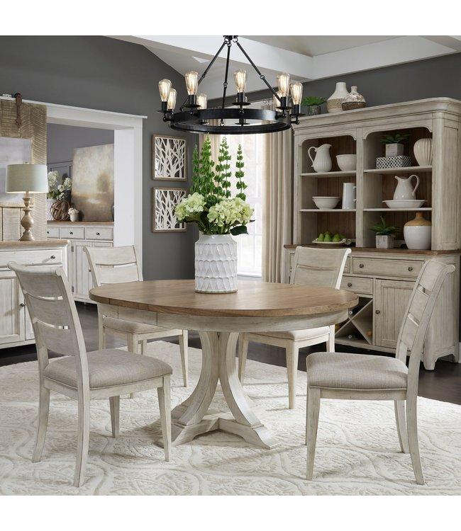 Liberty Furniture Farmhouse Reimagined Pedestal Table Set