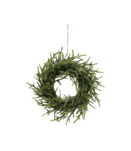 Creative Co-Op Faux Pine Wreath with Ice Finish